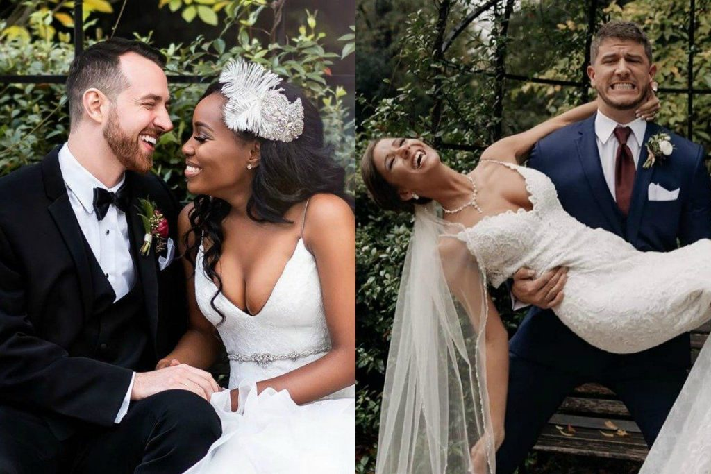 """Photos from the wedding of the final two couples on """"Love Is Blind"""" 